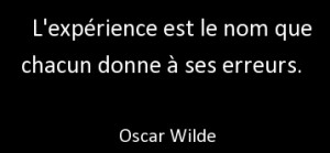 Citation_oscar_Wilde_Experience_erreurs